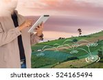 precision agriculture and... | Shutterstock . vector #524165494