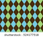 brown green blue argyle...   Shutterstock .eps vector #524177518