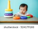 Kid Toddler Playing Wooden Toys ...