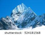 mountain peak everest. highest... | Shutterstock . vector #524181568