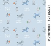pattern of the fun of horse   | Shutterstock .eps vector #524182114