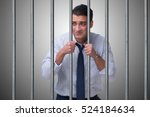 young businessman behind the... | Shutterstock . vector #524184634