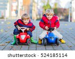 two little kids boys in... | Shutterstock . vector #524185114