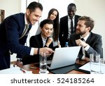young professionals work in... | Shutterstock . vector #524185264