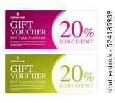 gift voucher template for spa... | Shutterstock .eps vector #524185939
