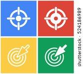 target vector icons set. white...   Shutterstock .eps vector #524186989
