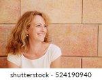 portrait of beautiful 40 years... | Shutterstock . vector #524190940