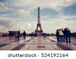 eiffel tower. paris. france.... | Shutterstock . vector #524192164