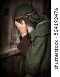 apostle peter in shame and... | Shutterstock . vector #524192476