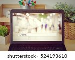 www. on search bar over blur... | Shutterstock . vector #524193610