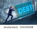 businessman in debt business... | Shutterstock . vector #524196508