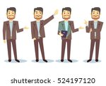 businessman cartoon character... | Shutterstock . vector #524197120