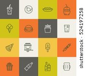 take away food linear icons.... | Shutterstock . vector #524197258