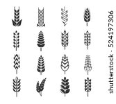 wheat ears icons. natural... | Shutterstock . vector #524197306