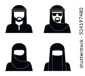 middle eastern people avatar in ... | Shutterstock . vector #524197480