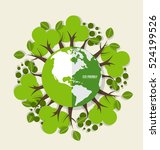 eco friendly. ecology concept... | Shutterstock .eps vector #524199526