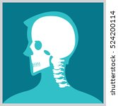 xray of  head and neck  the... | Shutterstock .eps vector #524200114