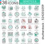vector genetics and... | Shutterstock .eps vector #524201059