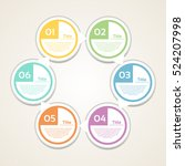 vector circle infographic.... | Shutterstock .eps vector #524207998