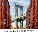 manhattan bridge at sunset  new ... | Shutterstock . vector #524209528
