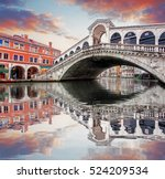 venice   rialto bridge and... | Shutterstock . vector #524209534