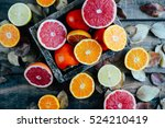 fresh fruits. mixed fruits... | Shutterstock . vector #524210419