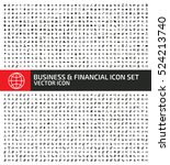 business and finance icon set... | Shutterstock .eps vector #524213740