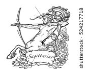 Sagittarius Zodiac Sign With A...