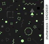 trendy geometric elements card. ... | Shutterstock .eps vector #524220319