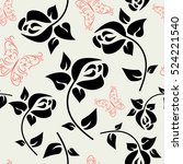 seamless floral pattern with a... | Shutterstock .eps vector #524221540