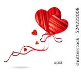 vector valentine's day...   Shutterstock .eps vector #524222008