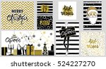 big collection with merry... | Shutterstock .eps vector #524227270