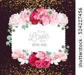floral vector design square... | Shutterstock .eps vector #524227456