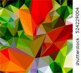 Green Red Background Geometric...
