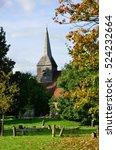 English Churchyard In Portrait...