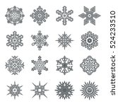 snowflakes geometric abstract... | Shutterstock .eps vector #524233510