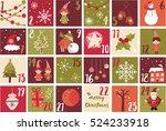 advent calendar. christmas... | Shutterstock .eps vector #524233918