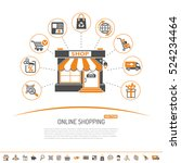 online internet shopping... | Shutterstock .eps vector #524234464