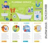 plumbing service installation... | Shutterstock .eps vector #524234488