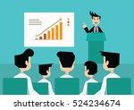 cartoon character  businessman... | Shutterstock .eps vector #524234674