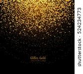 stylish golden glitter round... | Shutterstock .eps vector #524234773