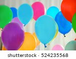 colorful birthday balloons ... | Shutterstock . vector #524235568