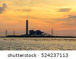 factory and sunset   Shutterstock . vector #524237113