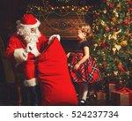 santa claus presents christmas...