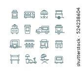 street food retail  food truck... | Shutterstock . vector #524238604
