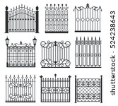 metal iron gates  grilles ... | Shutterstock . vector #524238643