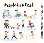 vector set of cartoon people in ... | Shutterstock .eps vector #524239204