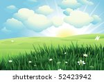 spring landscape | Shutterstock .eps vector #52423942