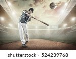 baseball players in action on... | Shutterstock . vector #524239768
