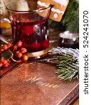 menu card on restaurant table.... | Shutterstock . vector #524241070